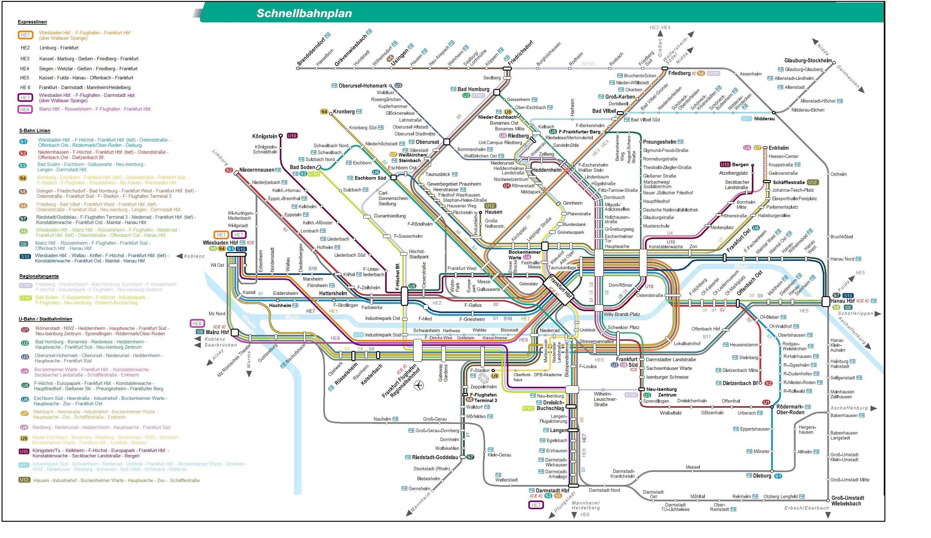RMV Schnellbahnplan meine Vision Verkehrspolitikplanung